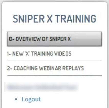 sniper x training