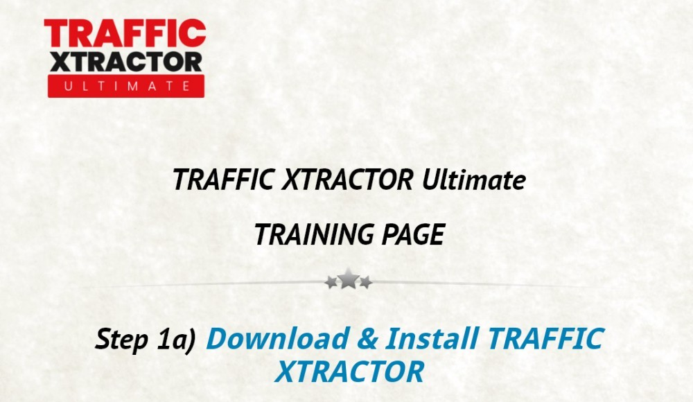 traffic xtractor ultimate members area