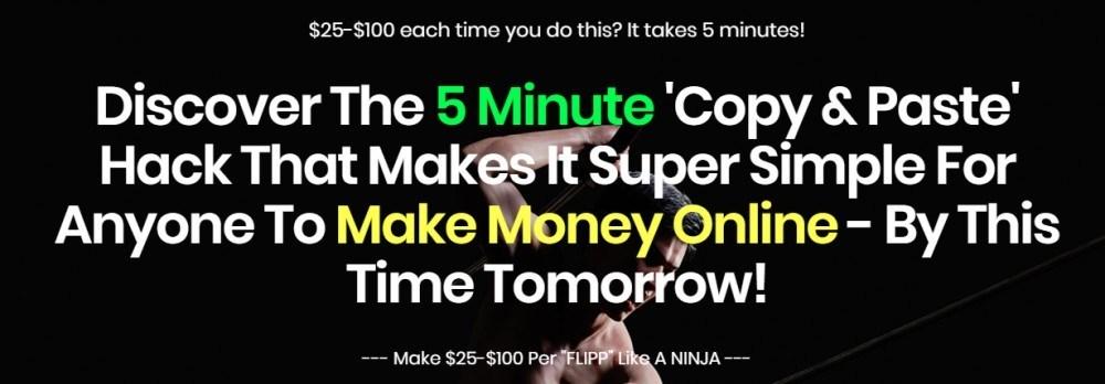 flipp ninja sales page headline
