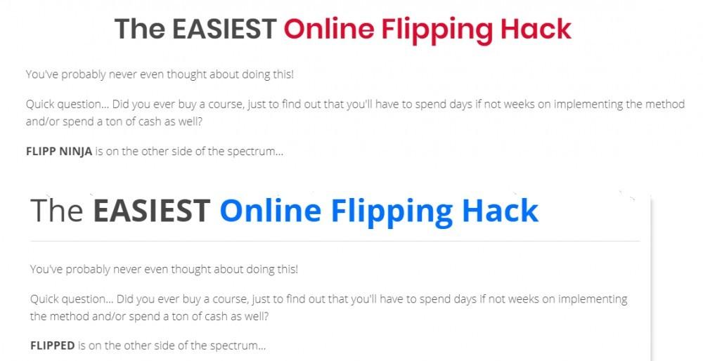 flipping hack