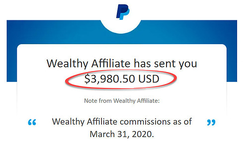 wealthy affiliate income